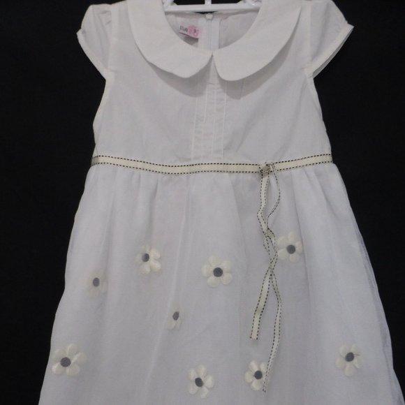 CIEL BLUE, girls, size 9, white dress with flowers